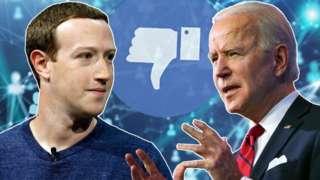 Mark Zuckerberg ve Joe Biden