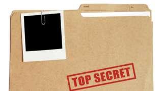 File saying ' top secret'