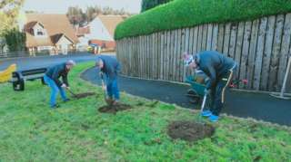 Residents planted nearly 30 fruit trees