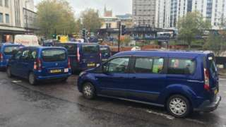 Taxis at the St James Barton roundabout