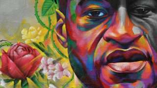 A George Floyd mural