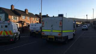Security alert on Alliance Avenue in Belfast