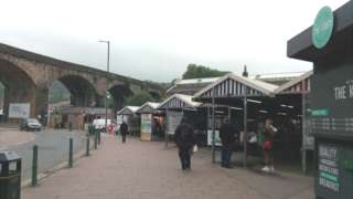 The town's market and market hall