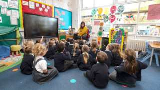 The reception class at Manor Park School and Nursery in Knutsford, Cheshire