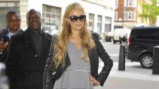 Paris Hilton at the BBC
