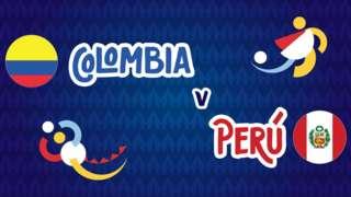 Colombia v Peru badge graphic