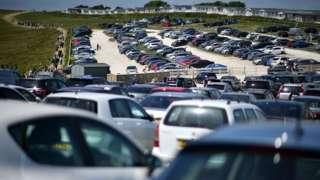 Lulworth car park May 2020