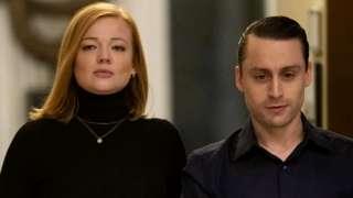 Sarah Snook and Kieran Culkin in Succession