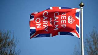 Британский флаг с девизом