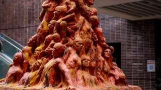 The Pillar of Shame statue