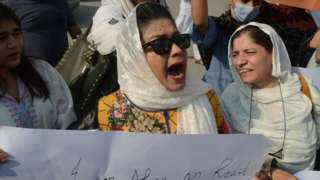 Supporters of the Civil Society hold a demonstration to condemn the incident of a woman gang raped on a deserted highway
