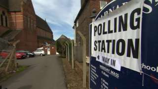 Polling station in Tunbridge Wells