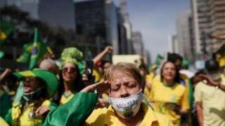 Ato pró-Bolsonaro na Paulista