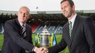 Rangers' Mark Warburton and Celtic's Ronny Deila