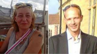 Dawn Sturgess and Charlie Rowley