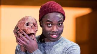 Paapa Essiedu in the RSC's 2016 production of Hamlet