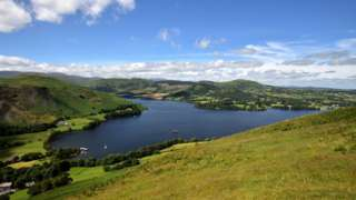 Ullswater and the fells of Howtown