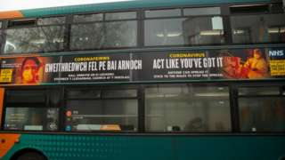 Bus in Cardiff city centre