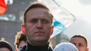 Alexei Navalny in February 2020