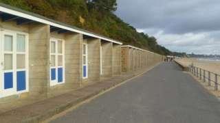 Beach huts at Canford Cliffs