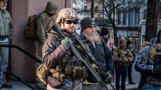 Pro-gun protest in Richmond, Virginia, 20 January 2020