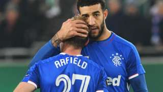 Rangers centre-half Connor Goldson is left disappointed