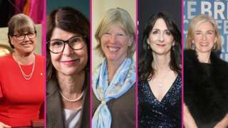 Donna Strickland, Cynthia Kenyon, Katrin Amunts, Sara Seager and Jennifer Doudna