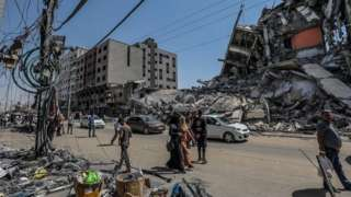 Uharibifu mji wa Beit Hanoun, ukanda wa Gaza