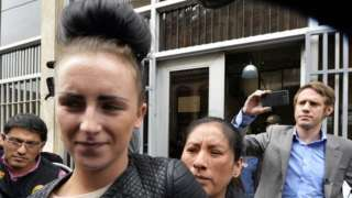 Michaella McCollum outside court