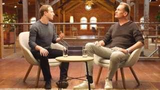 Mark Zuckerberg with Mathias Döpfner, CEO of Axel Springer
