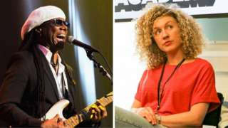 Nile Rodgers and Fiona Bevan