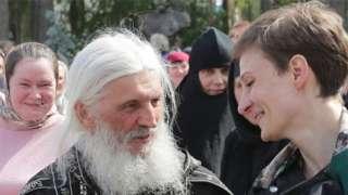 Father Sergiy at Sredneuralsk in June 2020