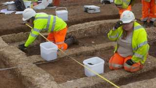 Archaeological dig as part of the construction of the A120 Little Hadham Bypass