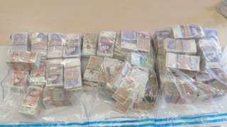 Large amounts of bank notes