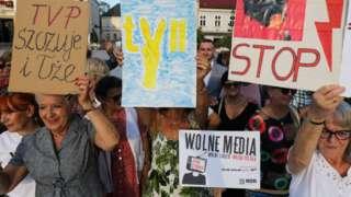 Yasa tasarısı günlerdir Polonya'da protesto ediliyor