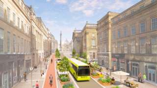 Artist's impression of the Grey Street lay-out