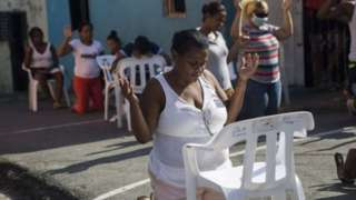 Ibada ya Evangelisti katika Santo Domingo wakati wa wiki takatifu