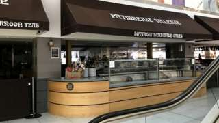 Closed Patisserie Valerie concession stand at Debenhams Oxford Street