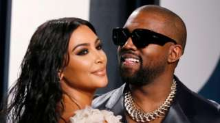 Kim Kardashian and Kanye West (file picture)