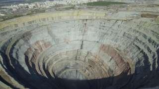 deep hole in Russia