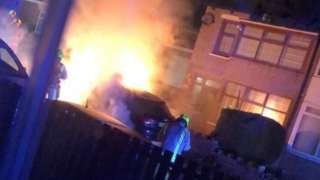 The fire at Masood Ahmed's home