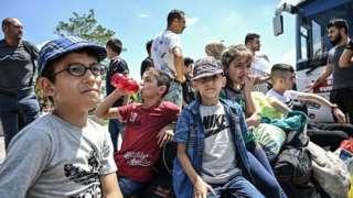 ترکی میں شامی بچے