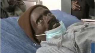 Kenyan man in morgue
