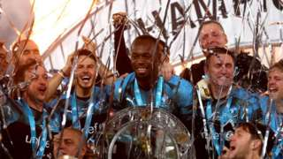 Rest of World Soccer Aid 2019 celebration