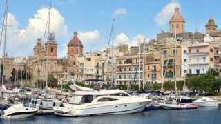 Maltese town of Bormla Cospicua, facing Valletta