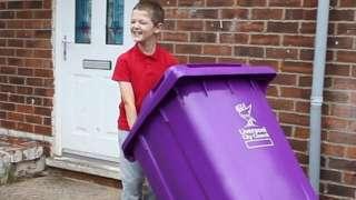 David Geelan and his Liverpool bin