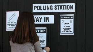 Polling stations are observing extra rules this year because of the Covid pandemic