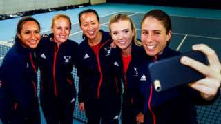 Britain's Fed Cup team