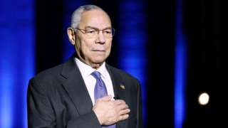 Image shows Colin Powell earlier this year