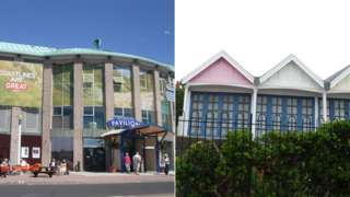 Weymouth Pavilion and Greenhill chalets